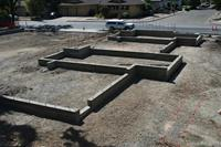 Completed foundation in Santa Rosa ready for new house.
