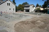 Completed foundation for new house in Santa Rosa