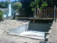 This is a completed foundation for a new addition to this house which will have a basement area which will be used as an office. This project is located in San Refael, Marin County