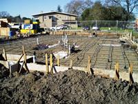 Post tension slab foundation has cables installed and is ready for concrete to be poured.